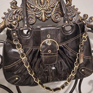 Merona Black shiny purse